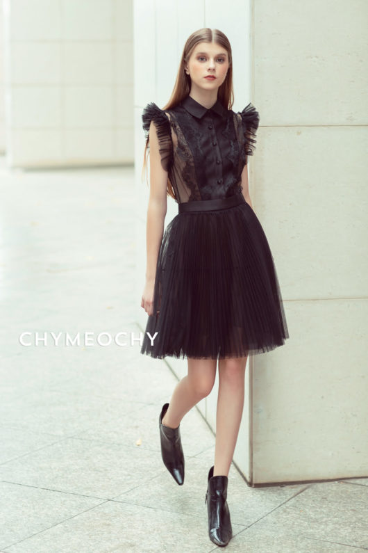 Lyonnie Black Tulle Dress 1