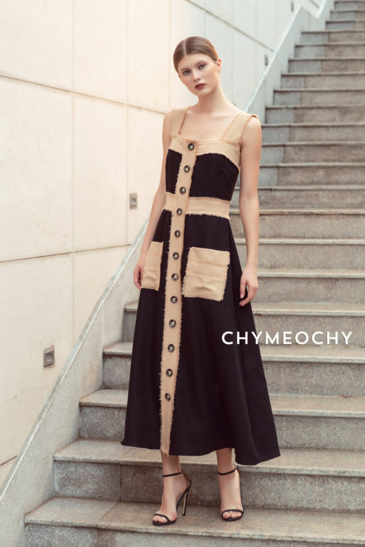 Dammia Buttoned Straight Dress 1