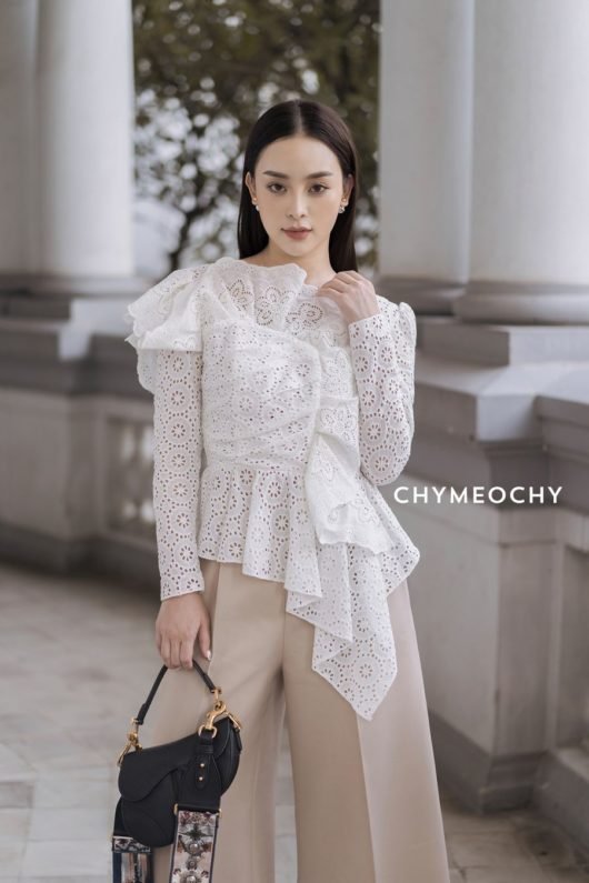 Embroidered Ruffle Blouse 1