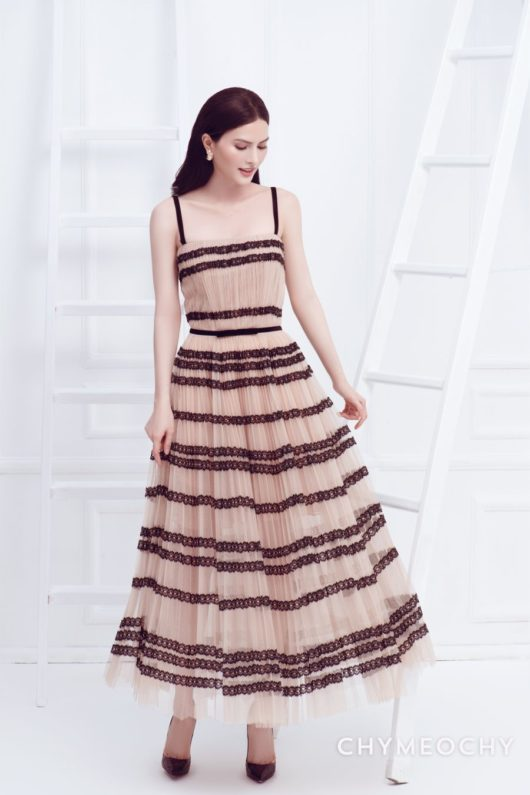J-Jadé Pleated Tulle Dress 1