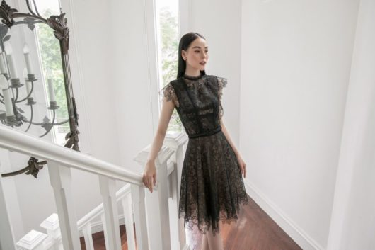Black Charmuse Lace Dress 3