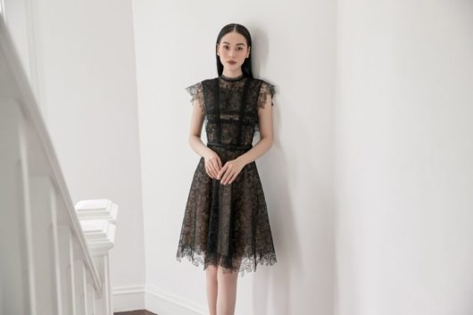 Black Charmuse Lace Dress 4