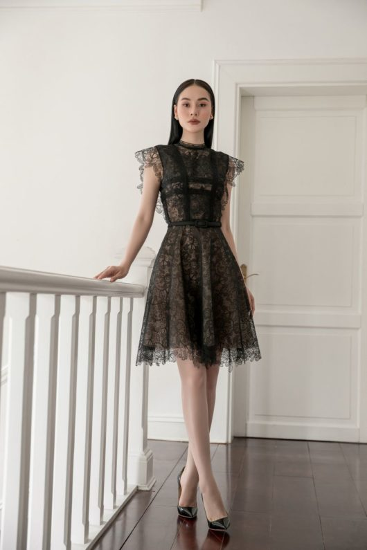 Black Charmuse Lace Dress 2