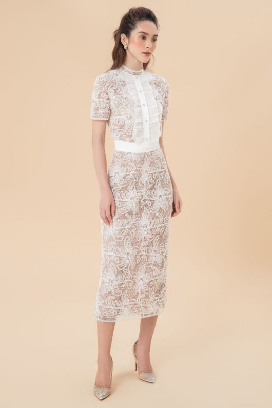 Dellas Lace Longuette Dress 1