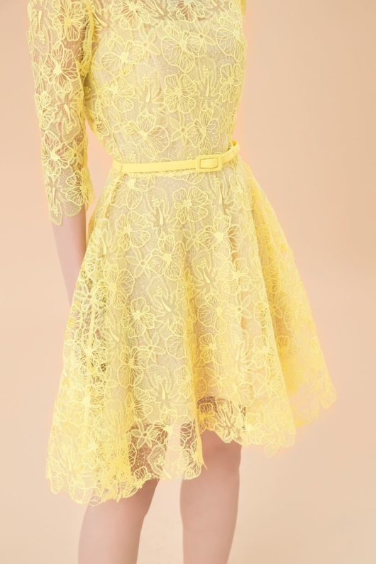 Yellow Charmuse Lace Dress 2